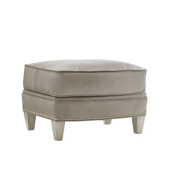 Oyster Bay Leather Ottoman By Lexington