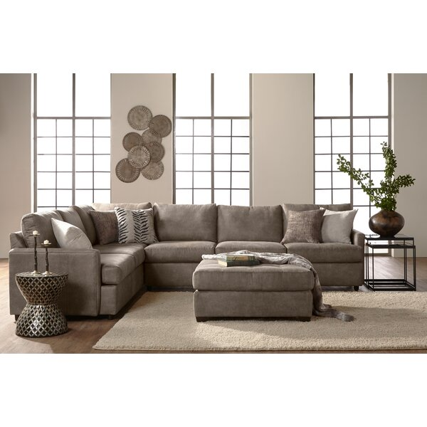Althea Left Hand Facing Modular Sectional by Charlton Home
