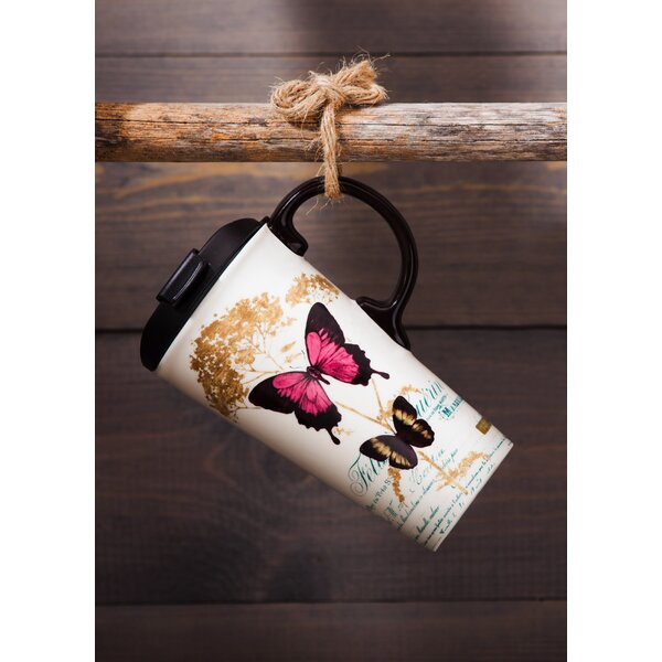 Dalila Butterfly Travel Mug by August Grove