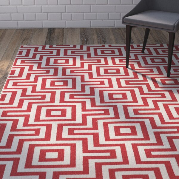 Rahul Hand-Woven Red Indoor/Outdoor Area Rug by Willa Arlo Interiors