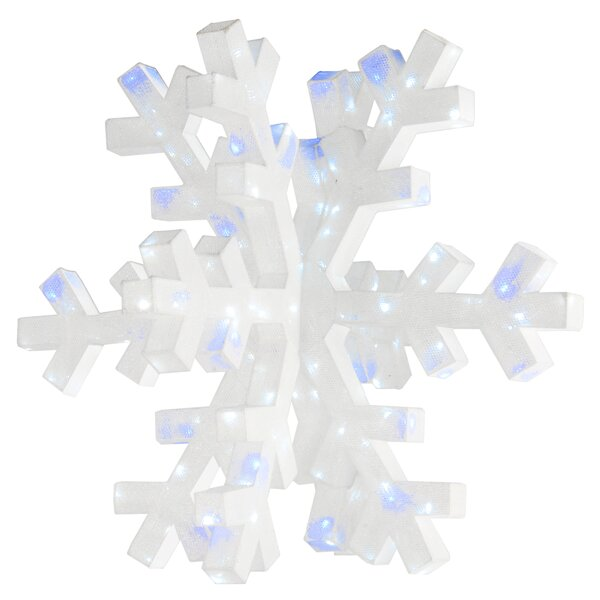 Giant 3D Snowflake Lighted Display by The Holiday Aisle