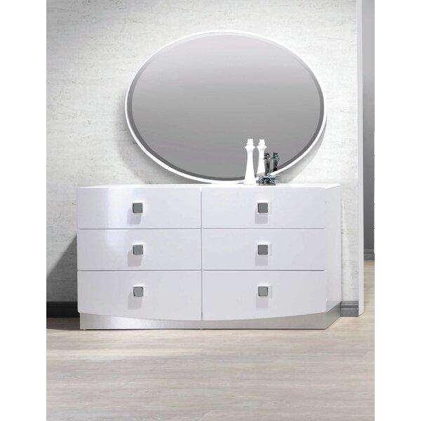 Rachna 6 Drawer Double Dresser with Mirror by Orren Ellis