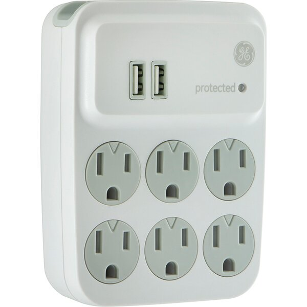Surge Protector Wall Mounted Outlet By Ge.