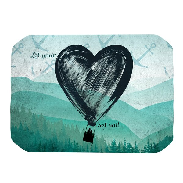 Heart Set Sail Placemat by KESS InHouse