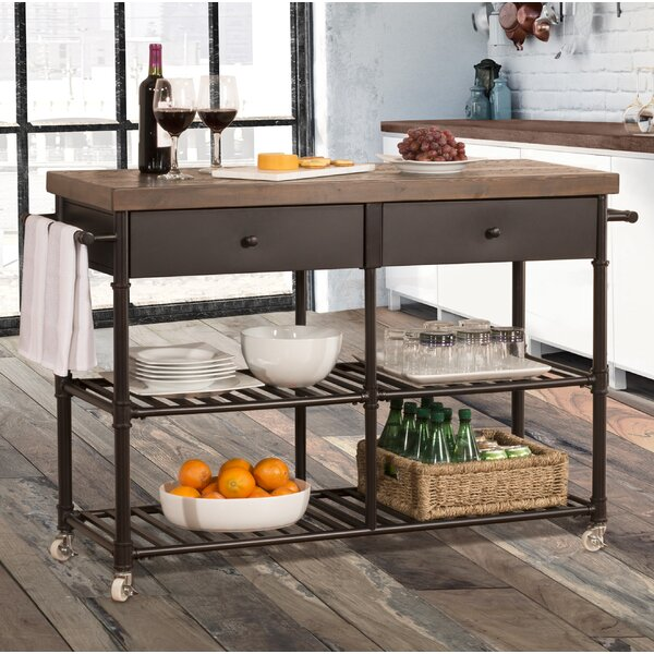 Elmsford Kitchen Cart by 17 Stories