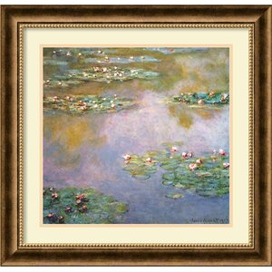 'Water Lilies, 1907' by Claude Monet Framed Graphic Art by Amanti Art