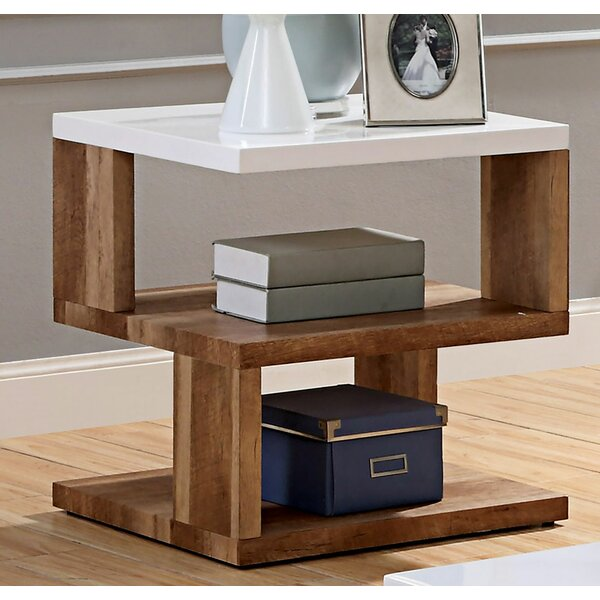 Charlette Floor Shelf End Table With Storage By Foundry Select