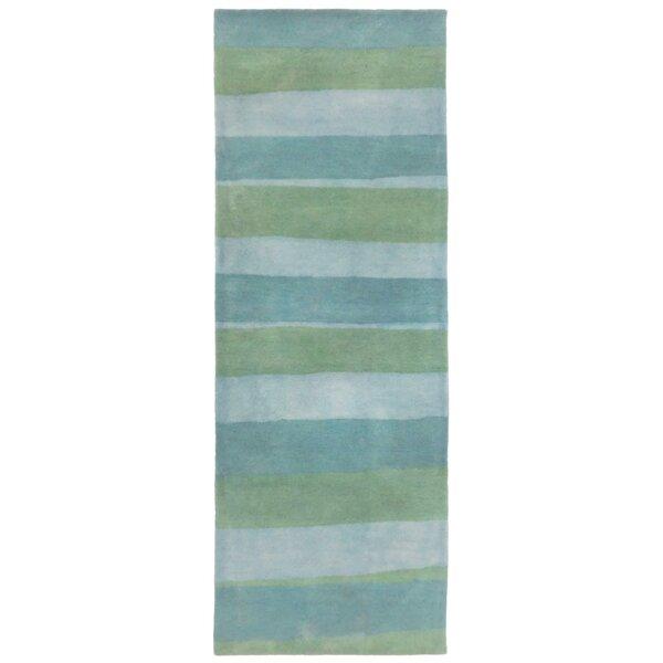 Mullican Hand-Tufted Wool Blue/Green Area Rug by Latitude Run
