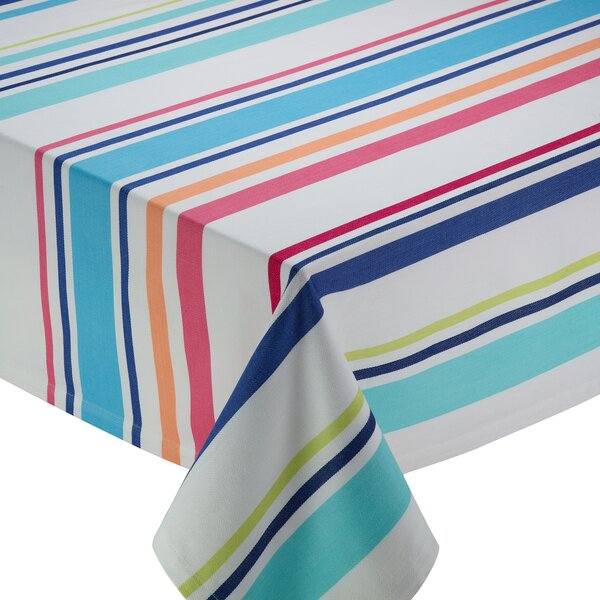 Beachy Keen Stripe Tablecloth by Design Imports
