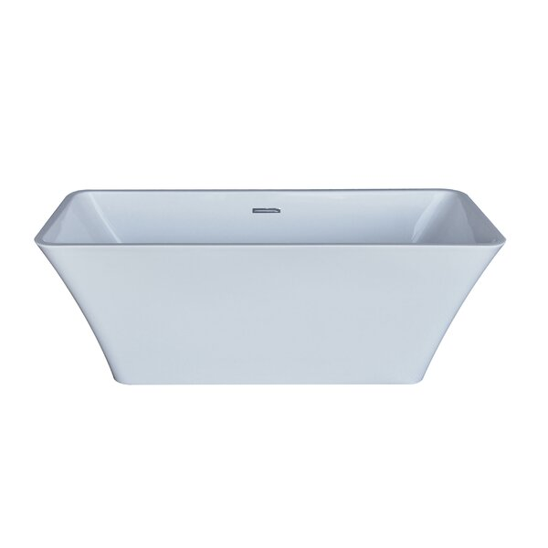 Arhus 66.5 x 29.38 Rectangle Acrylic Freestanding Bathtub by Spa Escapes