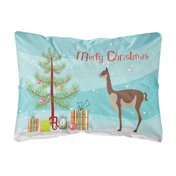 Oey Vicugna or Vicuna Christmas Indoor/Outdoor Throw Pillow by The Holiday Aisle