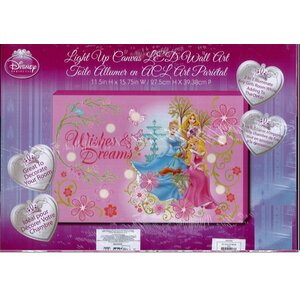 'Disney Princess Wishes and Dreams Light Up' Graphic Art on Canvas