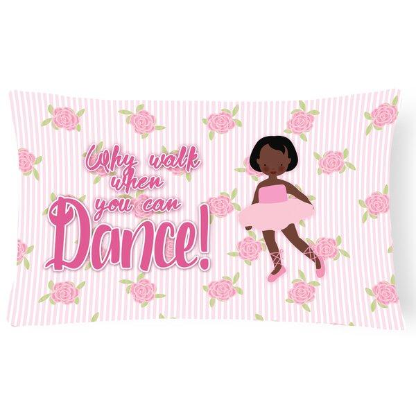 Casandra Ballet African American Short Hair Lumbar Pillow by Zoomie Kids