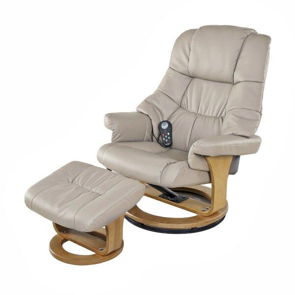 Sao Reclining Massage Chair with Ottoman [Latitude Run]