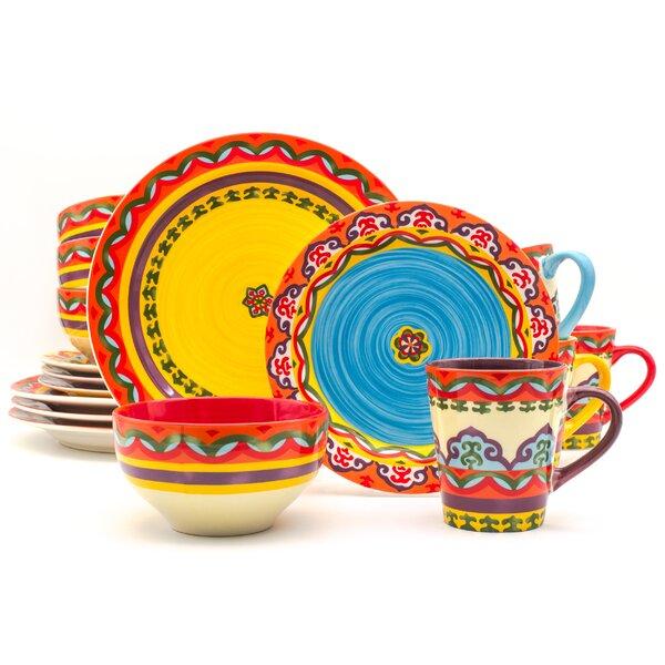 Galicia 16 Piece Dinnerware Set, Service for 4 by Euro Ceramica