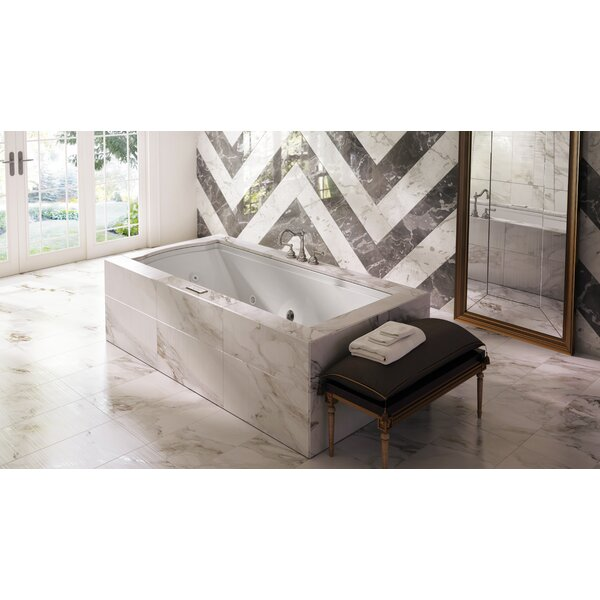 Fuzion Illuma LCD Whisper Left-Hand 72 x 36 Drop-In Whirlpool Bathtub by Jacuzzi®