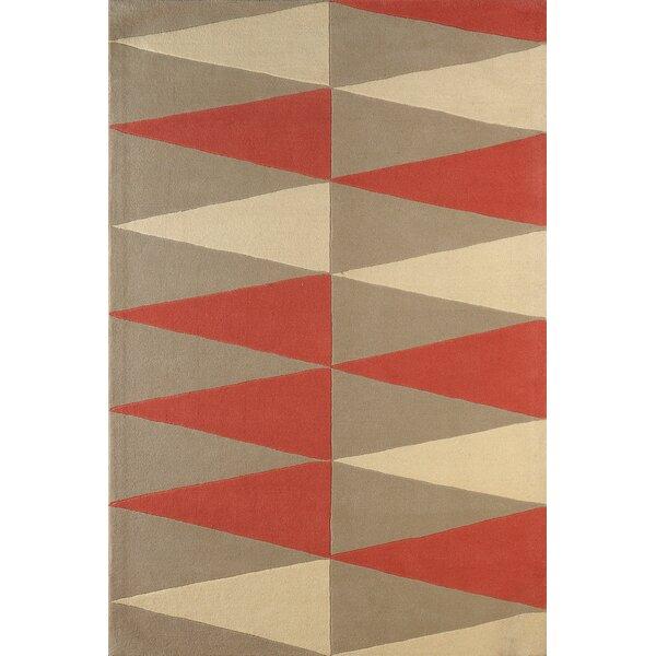 Hisle Hand-Tufted Sorbet/Ivory Area Rug by Brayden Studio