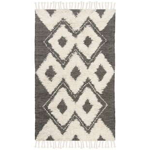 Comparison Albertina Hand Knotted Wool Black/Beige Area Rug ByFoundry Select