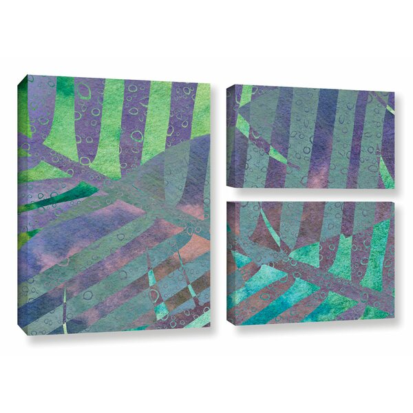 Leaf Shades III 3 Piece Photographic Print on Wrapped Canvas Set by Bay Isle Home