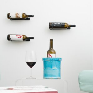 1 Bottle Metal Wall Mounted Wine Rack by VintageView