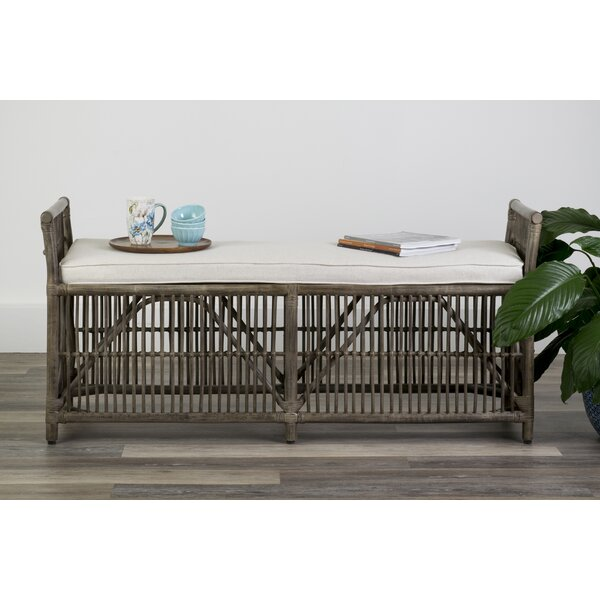 Anabella Wicker Bench by Highland Dunes