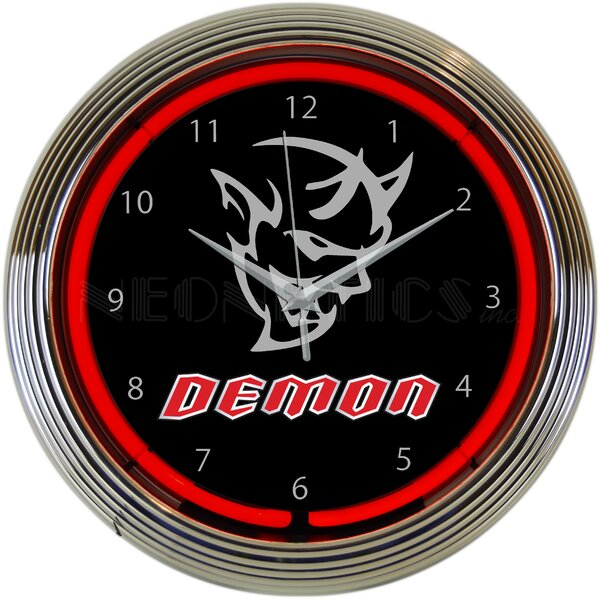 Dodge Demon Neon 15 Wall Clock by Neonetics