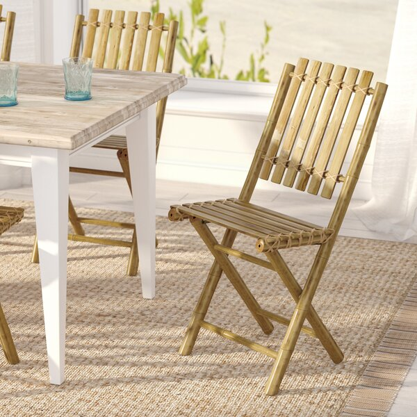 Josephine Folding Patio Dining Chair (Set of 2) by Beachcrest Home Beachcrest Home
