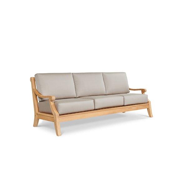 Khari Teak Patio Sofa with Sunbrella Cushions by Red Barrel Studio Red Barrel Studio