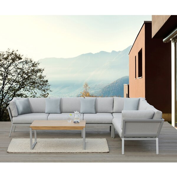 Conrad 5 Piece Sectional Set with Cushions by Ove Decors