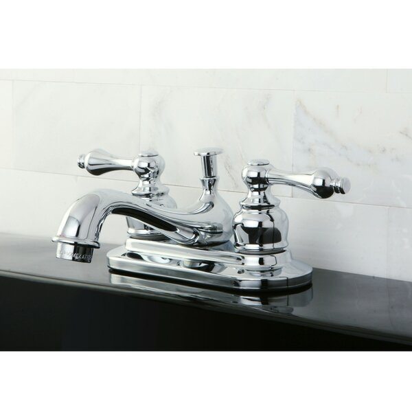 Restoration Centerset Bathroom Faucet with Drain Assembly