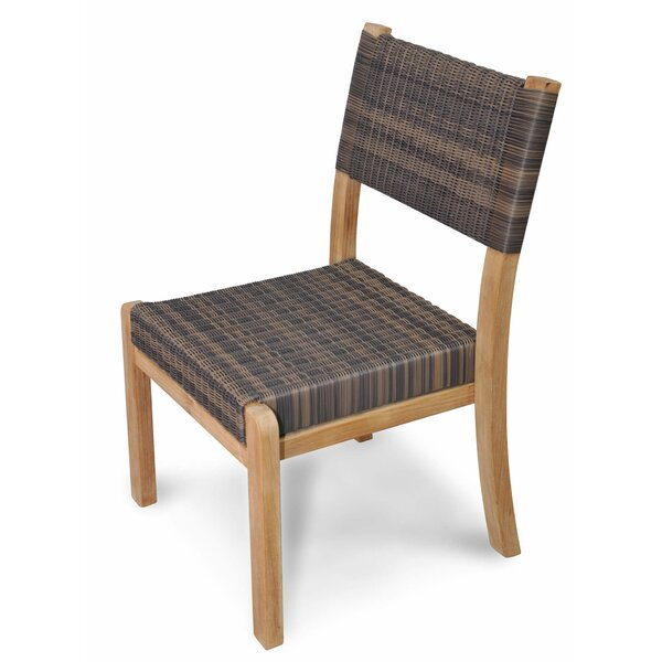 Lermitage Stacking Teak Patio Dining Chair by Canora Grey