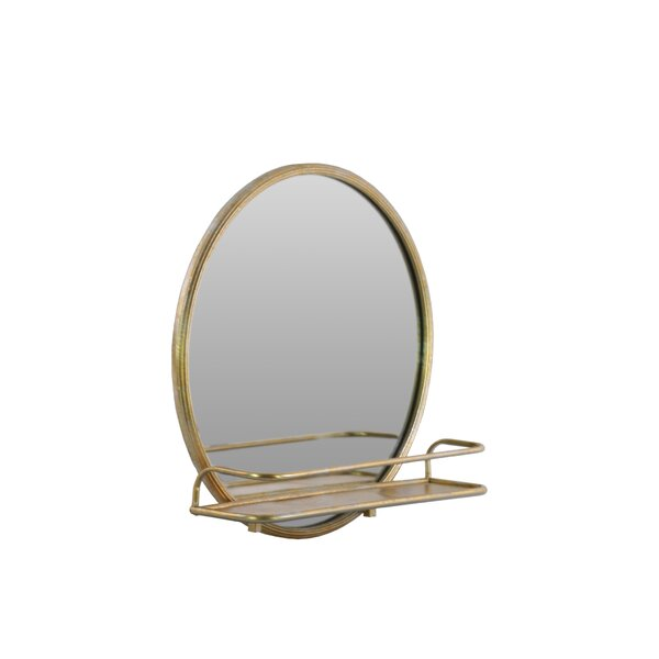 Pfarr Metal Round Accent Mirror by Corrigan Studio