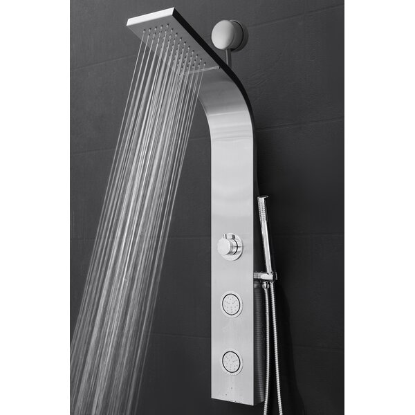 Easy Connect Shower Panel With Rainfall Waterfall Shower Head And Handshower By Akdy.