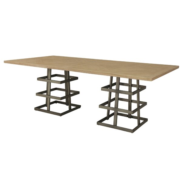 Tulane Dual Pedestal Dining Table by 17 Stories 17 Stories
