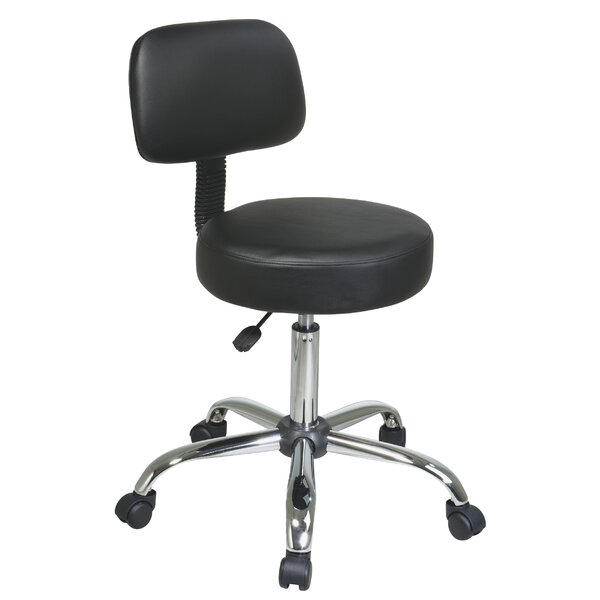 Vinyl Seat and Back Chrome Finish Drafting Chair by Office Star Products