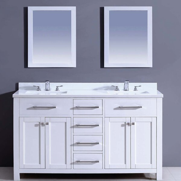 Milan 60 Double Vanity Set with Mirror by Dawn USA