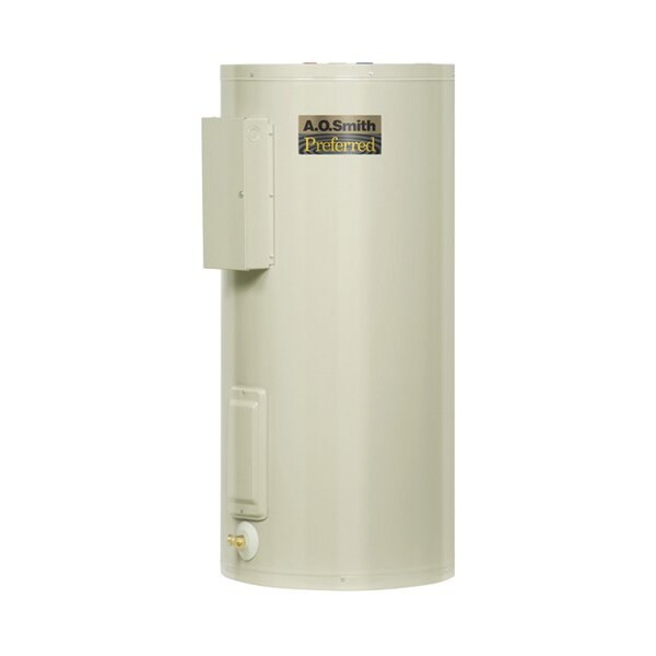 Commercial Tank Type Water Heater Light Duty Electric 50 Gal Dura-Powered Preferred 12KW Input by A.O. Smith