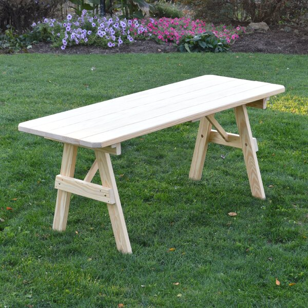 Sirretta Wooden Picnic Bench by Loon Peak