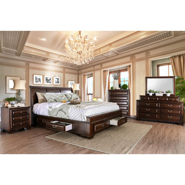 Rector Bradford Sleigh Configurable Bedroom Set by Charlton Home