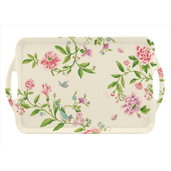Large Melamine Rectangular Serving Tray with Handle by Pimpernel
