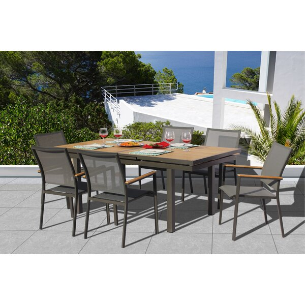 Chouinard 7 Piece Teak Dining Set by Brayden Studio