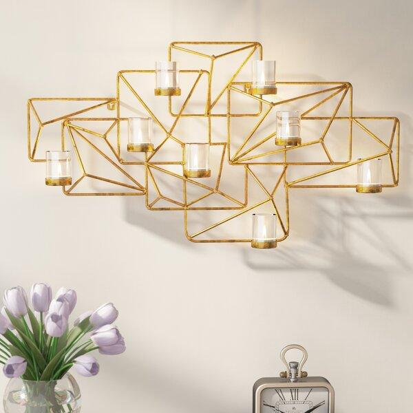 Wayde Sparkling Gold Metal Votive (Set of 9) by Willa Arlo Interiors