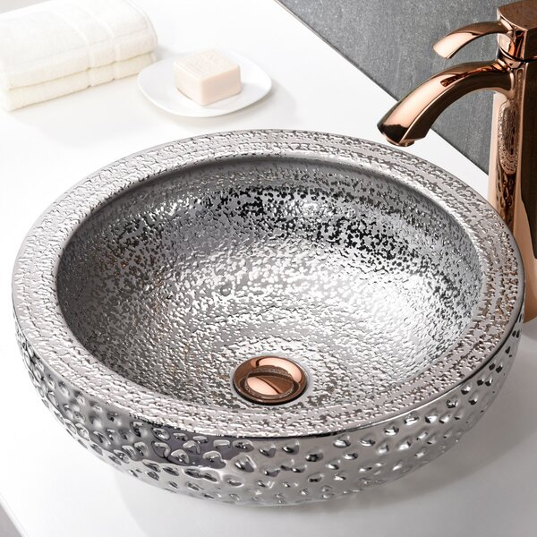Regalia Glass Circular Vessel Bathroom Sink by ANZZI