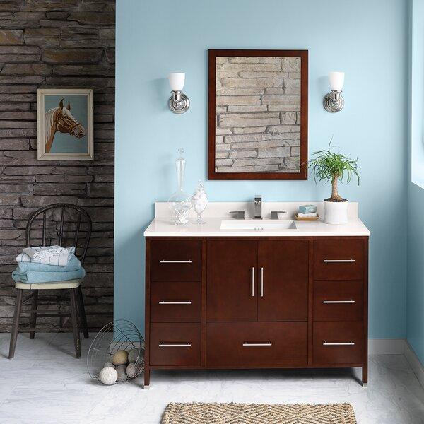 Juno 48 Single Bathroom Vanity Set with Mirror by Ronbow