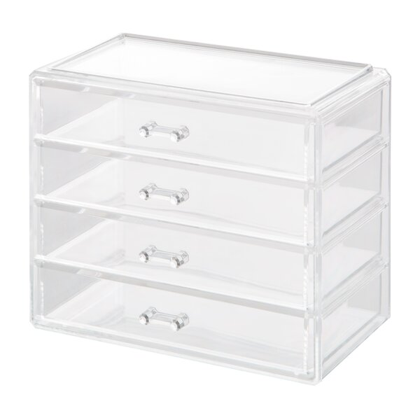 Clear Large 4 Drawer Cosmetic Storage Organizer by HomeCrate