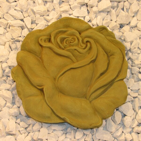 Rose Stepping Stone by Nichols Bros. Stoneworks