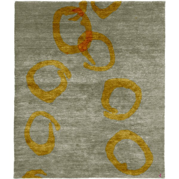 One-of-a-Kind Centerville Hand-Knotted Traditional Style Gray 6' x 9' Wool Area Rug