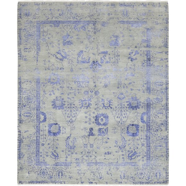 One-of-a-Kind Crooker Hand-Knotted Wool Blue/Gray Indoor Area Rug by Isabelline