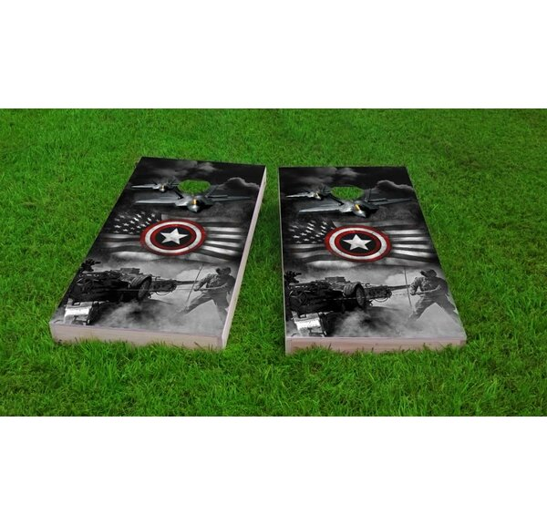Armed Forces Light Weight Cornhole Game Set by Custom Cornhole Boards