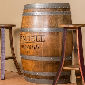 half barrel console table
